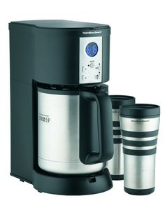 Hamilton Beach Coffee Maker, Stay or Go Digital with Thermal Insulated Carafe Product Features Brew a different coffee into each mug at the same timeSplit brew basket makes two coffee drinkers happy at onceBrew one type . Espresso Machine Reviews, Espresso Coffee Machine, Thermal Coffee Maker, Drip Coffee Maker, Coffee Machine Best, Coffee Machines For Sale, Automatic Espresso Machine, Hamilton Beach, Coffee Is Life