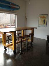 vintage industrial work bench Table Cafe Bar
