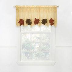 Heritage Lace® Maple Leaf 4-Way Valance - BedBathandBeyond.com