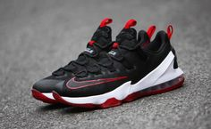 33a509c2381 Nike LeBron 13 Low Black Red Roshe Run Shoes