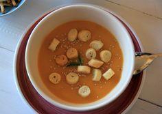 Pumpkin, potato and leek cream