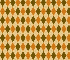 Harvest Collection - Argyle Gold fabric by natalie on Spoonflower - custom fabric