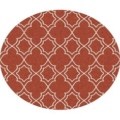 """Alcott Hill Amato Red Indoor/Outdoor Area Rug Rug Size: Round 5'3"""""""