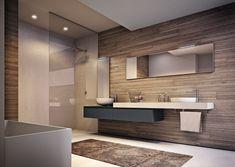 arredo bagno doppio lavabo in cristallo da 210 cm (vari colori ... - Bagni Moderni Doppio Lavabo