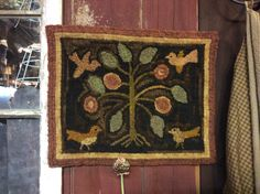 Hooked Rug ... Birds ... Flowers ... Hooked By Peggy Teich