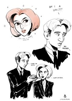 AU in which the show is really about Scully and science. And Mulder's a little slow, apparently... art by littledeerling.tumblr.com