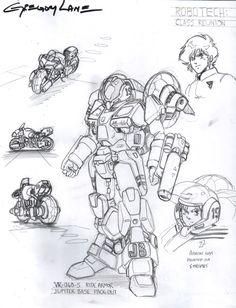 Robotech Cyclone Ride Armor VR-060-S Design by ~glane21 on deviantART