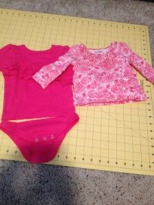 DIY Baby clothes, making a shirt out of a onesie.