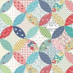 These designs are perfect for your next modern-vintage project. Lori Holt designed the Vintage Happy 2 collection for Riley Blake. This will make a beautiful fabric that looks like it is an orange peel quilt block.great for a backing or border. Laminated Cotton Fabric, Vintage Housewife, Ironing Board Covers, Bee In My Bonnet, Thing 1, Hand Applique, Applique Quilts, Riley Blake, Quilted Bag