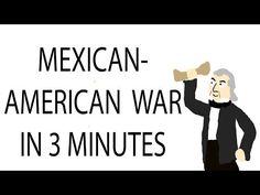 ▶ Mexican-American War | 3 Minute History - YouTube CC Cycle 3 Week 10 8th Grade History, Ap Us History, Texas History, 6th Grade Social Studies, Social Studies Activities, Teaching Social Studies, Teaching American History, Teaching History, Mexican American War