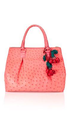 Pink Ostrich Tote by Nancy Gonzalez for Preorder on Moda Operandi