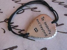 To Infinity and beyond bracelet, BFF bracelet, Boyfriend girlfriend jewelry, Guitar pick, Gifts for Bff Bracelets, Bff Necklaces, Bff Quotes, Cute Quotes, Cute Soccer Couples, Boyfriend Girlfriend Quotes, Deployment Gifts, To Infinity And Beyond, Sweet Nothings