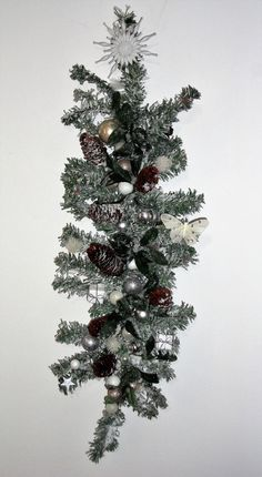 Merveilleux Couronne De Noël Blanche. Couronne De Lu0027Avent Originale. Couronne De Noël  Originale