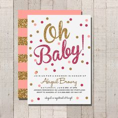 Baby Shower Invitation Hot Pink And By Fateandfourtune 12 00 Princess