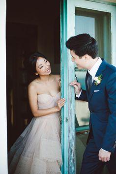 Photography: Hannah Arista - www.hannaharista.com Wedding Dress: Reem Acra - www.reemacra.com   Read More on SMP: http://www.stylemepretty.com/california-weddings/2015/02/02/romantic-malibu-summer-wedding/