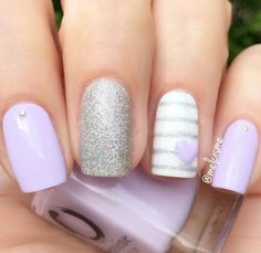 Pastel Purple Nail Polish - Lilac It Stylish Nails, Trendy Nails, Cute Nails, Purple Nail Polish, Purple Nails, Pastel Purple, Lilac Nails Design, Purple Wedding Nails, Purple Pedicure