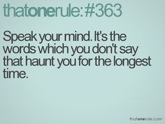 I think the problem is trying to speak when the time comes. Finding the words when your mind goes blank!