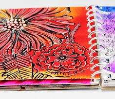 alisaburke: my sketchbook - love the colors, the black shading and then overlayed with the white.  yummy!!!