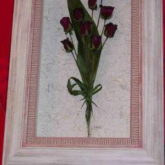 #Ramo de #novia disecado y enmarcado por nosotros #decoración #enmarcación