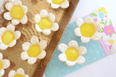 Mini Lemon Flower Tarts