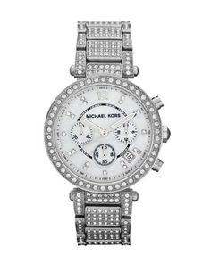 Michael Kors Pave Crystal Parker Watch.