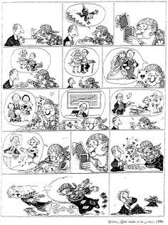 Famoso tebeo de Quino: La vidente