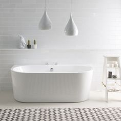 BC Designs Ancora 1640 x Free Standing Back To Wall Double Ended Bath White Gloss Family Bathroom, Modern Bathroom, Small Bathroom, Master Bathroom, Bathrooms, Bathroom Ideas, Bathroom Designs, Bathroom Inspiration, Japanese Bathroom