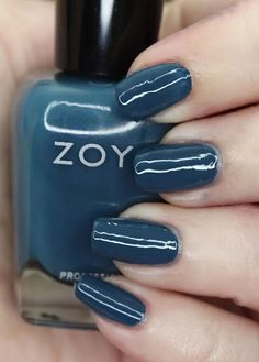 Zoya Nail Polish in Lou from the Luscious Collection  Swatches Blue Lipstick, Blue Eyeshadow, Blue Nail Polish, Let It Shine, Nice Nails, Blue Makeup, Cool Tones, Lifestyle Blog, Swatch