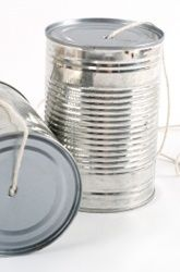 tin can phones I think we used dixie cups