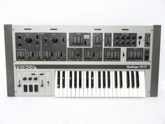 Teisco Synthesizer 110F s 110F Vintage Analog Synth w Orig Bag Cover RARE   eBay