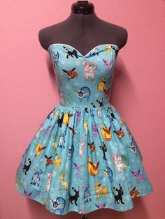 Eeveelution Pokemon Dress by CakeShopCouture on Etsy || SO CUTE!