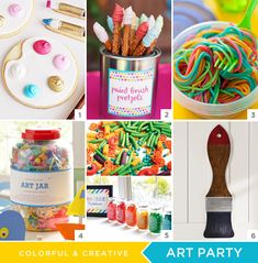 DIY Art Party - Pretzel Stick Paint Brushes