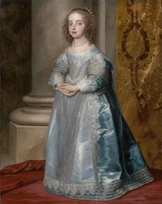 1641 Princess Mary Stuart, Daughter of Charles I by Sir Anthonis van Dyck (Museum of Fine Arts - Boston, Massachusetts USA)