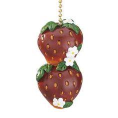 """Strawberry Fan Pull 13""""L"""