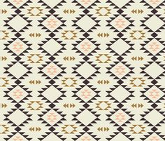 Navajo - Golden Brown Pink fabric by kimsa on Spoonflower - custom fabric