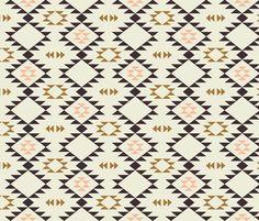 Navajo - Golden Brown Pink fabric by kimsa on Spoonflower - custom fabric
