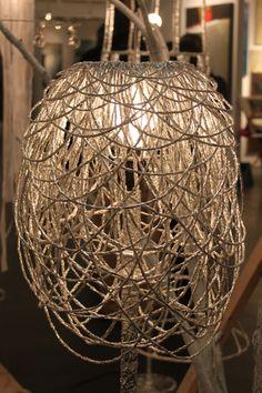 Tin foil chandelier - cool! - Soon Cho