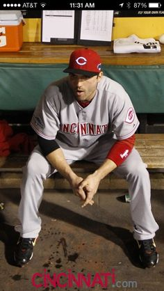 Joey Votto's expression portrays the disappointing end to the Cincinnati Reds 2013 baseball season.