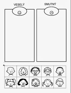 Veselý smutný Z internetu - Sisa Stipa - Picasa Web Albums 4 Year Old Activities, Montessori Activities, Preschool Worksheets, Therapy Activities, Activities For Kids, All About Me Preschool, School Humor, Kids Learning, Teaching