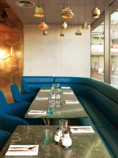 The recently-opened Paris restaurant, Eclectic, designed by Maison & Objet designer of the year Tom Dixon