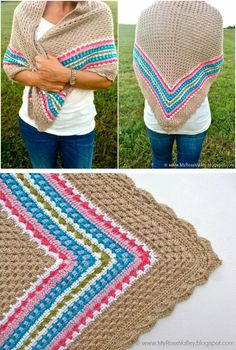 Inspiration :: Nordic shawl, by Annette of My Rose Valley.  Pattern is $9.50 in her Etsy shop.  #crochet