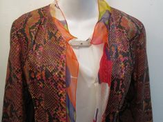 Chanel Python Multicolor with Silk Lining Jacket Size 40