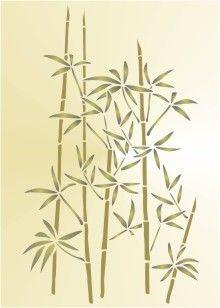Bamboo Plant Stencil