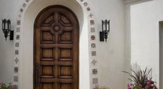 Image result for tiled front door arch