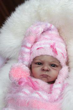 AA Ethnic Biracial Reborn Baby Doll 'Amy' Prototype by Olga Auer