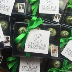 First order going out with our new Academy of Chocolate Award stickers - Williams GB & BTW Tonic G&T truffles heading to @whitmorewhite #AoCAwards #AcademyofChocolate #Choscars (Eponine Patisserie & Chocolaterie)