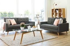 Member's Mark Reyes Top-Grain Leather Sofa and Armchair Set, Dark Teal Teal Leather Sofas, Leather Sectional Sofas, Leather Furniture, Living Room Sets, Living Room Furniture, Studio Furniture, Furniture Sets, Living Spaces, White Haven