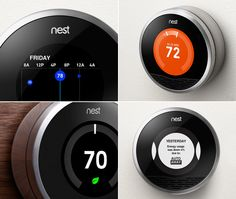 """Gadgets for your Home: With the cooler months nearing, now is the time to prepare your home; and one of the best items to update is your thermostat. Save time and (most importantly) money with an automatic learning thermostat. The Nest Learning thermostat can be controlled from your smartphone, includes an """"auto-away"""" mode and easy installation. See more amazing features of the Nest by clicking the image above"""
