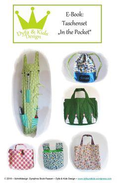 """Kombi-Book: Taschenset """"In the Pocket"""" Diy For Kids, Gym Bag, Backpacks, Pocket, Books, Design, Sewing Patterns, Bags, Breien"""