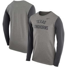In XXL please!! Men's Nike Charcoal Texas Longhorns Elevated Essentials Long Sleeve T-Shirt